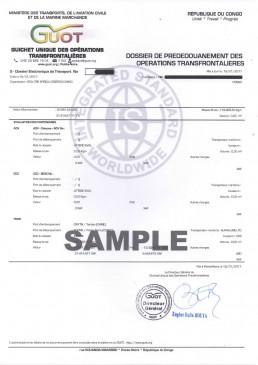 刚果布ECTN电子货物跟踪单 TI文件样本
